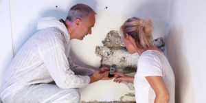 green home solutions staff doing mold testing in charlotte